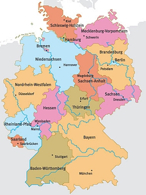 Map Of Germany Regions.Abseits Guide To Germany Home Page